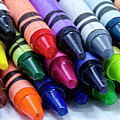 Box Of Colorful Crayons by Teri Virbickis