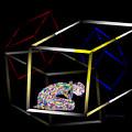 Boxed In Digital Abstract by Kae Cheatham