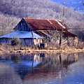 Boxely Barn Reflection by Curtis J Neeley Jr