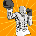 Boxer Boxing Knockout Punch Retro by Aloysius Patrimonio