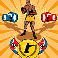 Boxer Boxing Poster by Aloysius Patrimonio