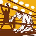 Boxer Down On His Hunches by Aloysius Patrimonio