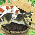 Boxer Hound Cross Dogs Plants Animals Cathy Peek by Cathy Peek