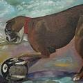 Boxer On Beach by Jan Dappen