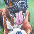Boxer Soccer by Lee Ann Shepard