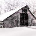 Boxley Snow Barn by Larry McMahon