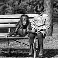 Boy And Orangutan by Granger
