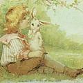Boy And Rabbit by Reynold Jay