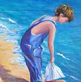 Boy At The Beach by Rosie Sherman