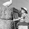 Boy Drawing Duck, C.1950s by H. Armstrong Roberts/ClassicStock