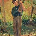 Boy Holding Logs by Winslow Homer
