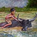 Boy In A Carabao by Arnildo Danga