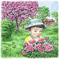 Boy In The Spring Garden by Irina Sztukowski