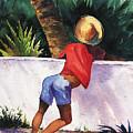 Boy Leaning On Wall by Chuck Creasy