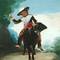 Boy On A Ram by Francisco Goya