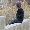 Boy On Fence by Lawrence Drake