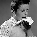 Boy Sneezing by H. Armstrong Roberts/ClassicStock