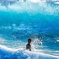 Boy And Wave   Kekaha Beach by Debra Banks