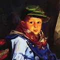 Boy With A Green Cap Also Known As Chico 1922 by Henri Robert