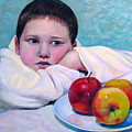 Boy With Apples by Alexander Chernitsky