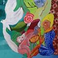 Boy With Empanadilla In His Hand by Darabem Artist