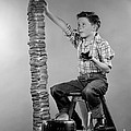 Boy With Huge Stack Of Toast, C.1950s by H. Armstrong Roberts/ClassicStock