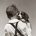 Boy With Puppy, C.1930-40s by H Armstrong Roberts ClassicStock