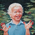 Boy With Raspberries by Marilyn Jacobson