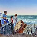 Boys And The Ocean by Irina Sztukowski