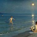 Boys Bathing At Skagen. Summer Evening by Peder Severin Kroyer