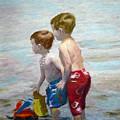 Boys On The Beach by Lamarr Kramer