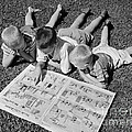 Boys Reading Newspaper Comics, C.1950s by G. Hampfler/ClassicStock
