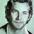 Bradley Cooper Charcoal Portrait by Richelle Siska