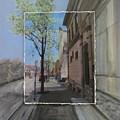 Brady Street With Tree Layered by Anita Burgermeister