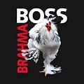 Brahma Boss II T-shirt Print by Sigrid Van Dort