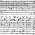 Brahms Manuscript by Granger