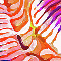 Brain Coral Abstract 6 In Orange by ABeautifulSky Photography by Bill Caldwell