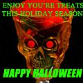 Brain Desert Halloween Card by David Lee Thompson