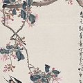 Branch Magpie Painting by Asian Art