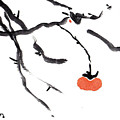 Branches With A Persimmon by Casey Shannon