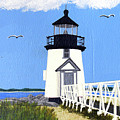 Brant Point Lighthouse Painting by Frederic Kohli