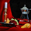 Brass, Glass And Silver by Valerie Bassett
