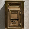 Brass Mail Box Nyc by Robert Ullmann