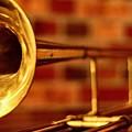 Brass Trombone by David  Hubbs