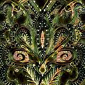 Brassy Fleur De Lys Mandala by Artful Oasis