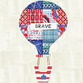 Brave Balloon- Art By Linda Woods by Linda Woods