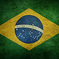 Brazil Flag by Les Cunliffe