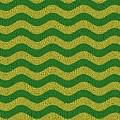 Brazilian Paving Pattern In Brazilian Colours. by Richard Wareham