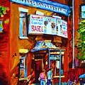 Breakfast At The Bagel Cafe by Carole Spandau