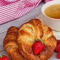 Breakfast With Croissants by Anastasy Yarmolovich